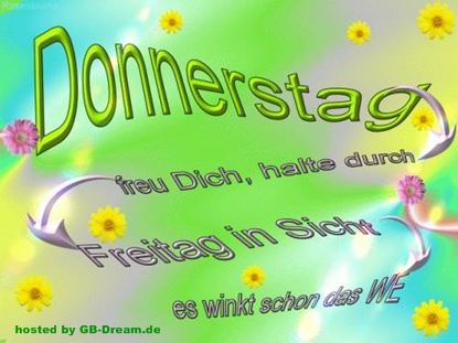 Donnerstagsgruesse GBPic